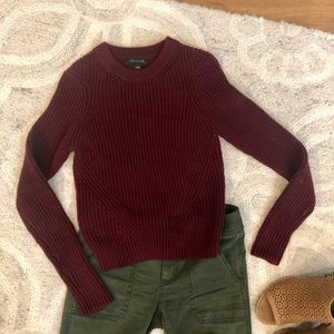 Ann Taylor burgundy sweater